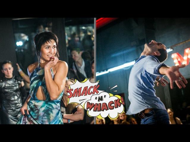 Smack'n'whack 2016, Waacking Pro - Alan (I.H.O.W) VS Zlata Maslo (I.H.O.W) (win)