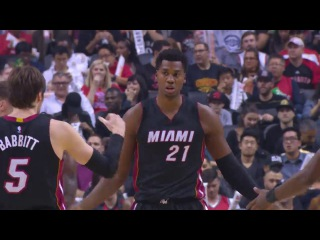 Hassan Whiteside scores 21 points while grabbing 16 rebounds