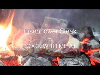 Eisenhower Steak - Bourbon Injected Caveman Style Rib Eye Steak - COOK WITH ME.AT