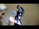 Making of Demon Hunter sculpture