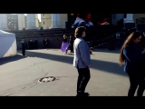 Валерий Халилов. Репетиция на улице. 9 мая 2015