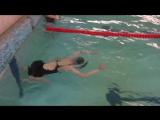 Анастасия Печ., первые 50 м, 4 занятие