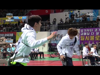 VIDEO EXO at Idol Star Athletics Championship EXO VS SEVENTEEN archery 20170130