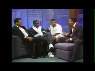 Майк Тайсон, Мухаммед Али и Рэй Леонард на шоу Арсенио Холла