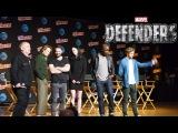 Os DEFENSORES juntos pela 1º vez Demolidor, Jessica Jones, Luke Cage e Punho de Ferro Netflix Marvel