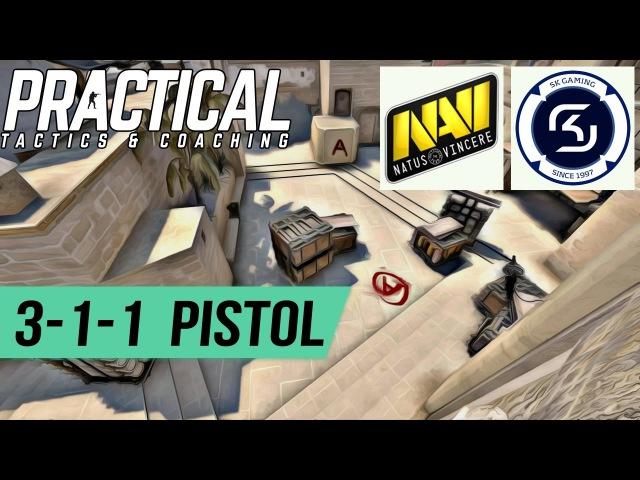 CS:GO Tactic -- NaVi vs SK Gaming -- Mirage 3-1-1 A-site Pistol Round