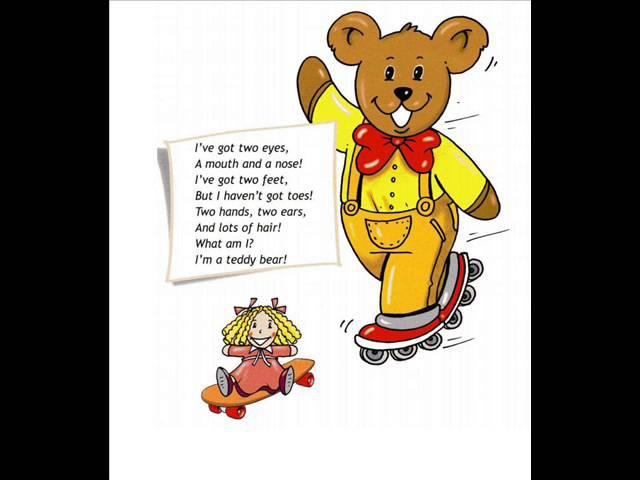 English for children Spotlight 2 Page 85 ex 3 Teddy Bear Chant