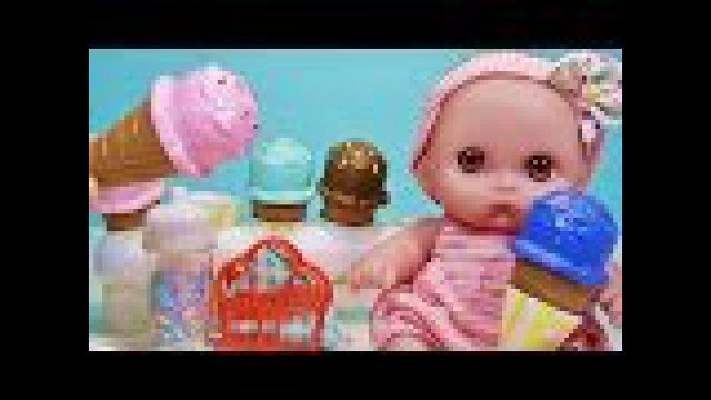 Куклы Пупсики Кушают Мороженное Обычная Еда Фея Продавец Мороженного Игрушки Л