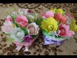 Урок по Handmade, как сделать красивую, яркую корзинку из конфет и цветов