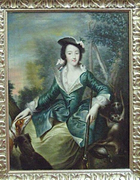 Единственное известное нам изображение Екатерины в охотничьем