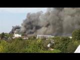 Пожар на ул. Космонавтов 65а г. Барнаул. Вид с садоводства Трансмаш