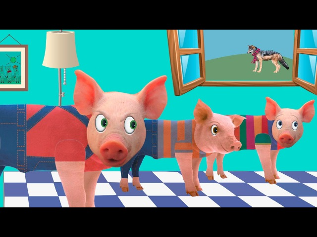 Three little pigs and the big bad wolf - Animated Fairy Tales for Children