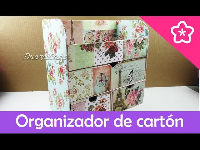 Cajonera Organizador de Cartón Multiusos - DecoAndCrafts