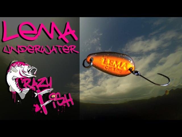 Приманки под водой Crazy Fish Lema