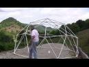 Как построить 5 м. (геодезический купол).Курятник,овчарня ,теплица и т.д.