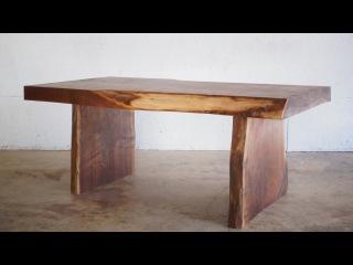 DIY Live Edge Slab Coffee Table   Modern Builds   EP. 24