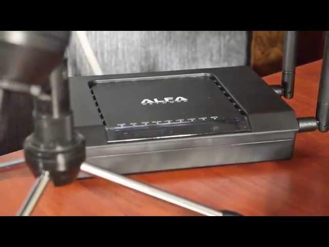 Видеообзор мощного Wi-Fi роутера ALFA AIP-W525H