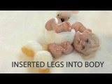 Inserted legs into Baby Body - Mini Pose-able Baby (V31)
