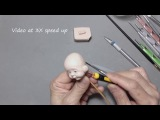 Sculpt a Mini Baby Face (V32) - Fully Pose-Able action