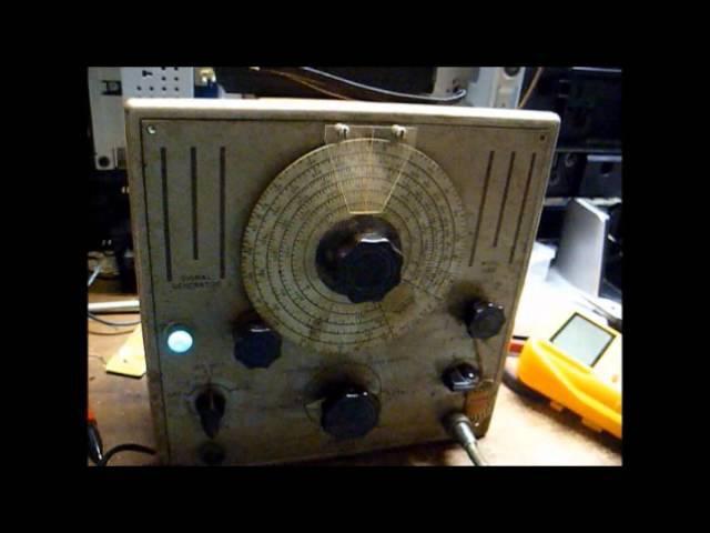 Circa 1946 Triplett model 2432 RF signal generator repair