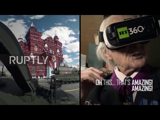 Россия: 99-летний ветеран прыгает из прошлого в будущее с 360° VR гарнитурой.