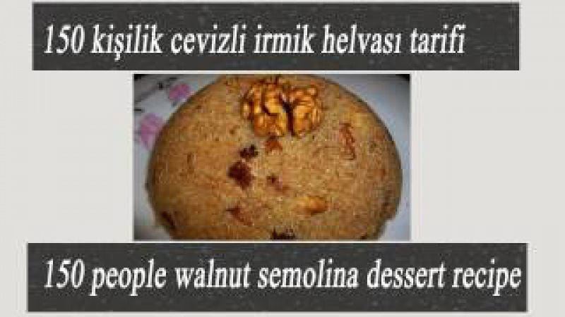 Semolina Halva Dessert Walnut Recipe Turkish irmik helva