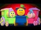 Боб Поезд Finger Семья  3D детские стишки  семья палец песня  Bob Train Finger Family