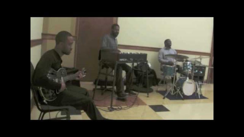 Dan Wilson-Guitar,Cliff Barnes-Organ,Phillip K Jones II-Drums playing standards