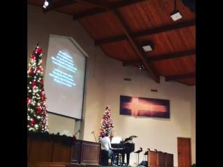 Джесса на Рождественском Богослужении