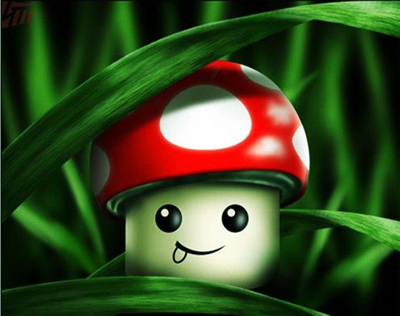 Смешные рисунки грибов, легким паром прикольные