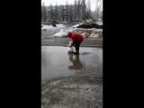 Снеговик отгрёб по еблу