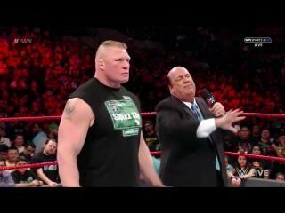 РУС.: 545TV WWE RAW - Брок Леснар хочет последний бой с Голдбергом на WrestleMania 33 /