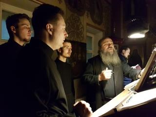 Иеродиакон Герман (Рябцев) и хор Валаамского подворья в Москве - Душе моя (знаменный распев с исоном)