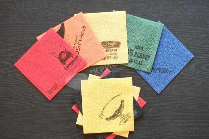 Бумажные салфетки с изображением оптом на заказ в Уфе