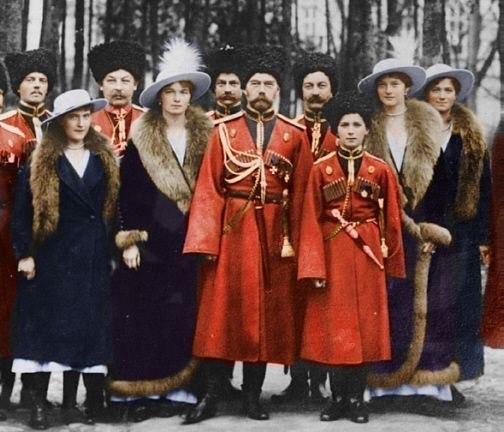 Цветная фотография Романовых, 1914 г.