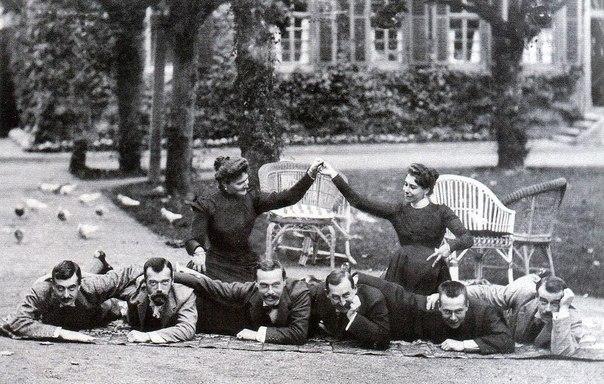 Николай II и компанія на отдыхѣ. Германія,