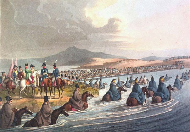 Французы, наступая на Россию, пользовались картой с