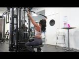 Женская тренировка в тренажерке