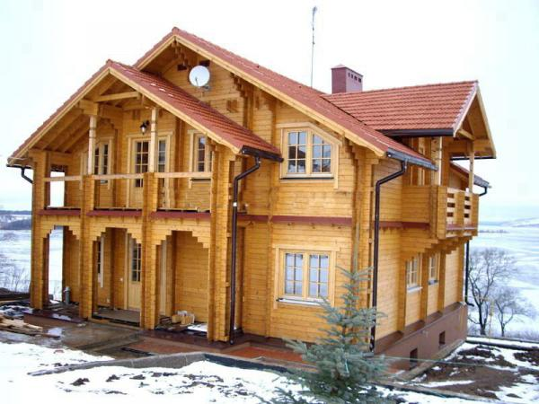 Теплые дома по технологии двойной брус в Альметьевске