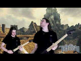 Sons of Skyrim Theme (Dovahkiin) Metal⁄Rock Guitar Cover Remix - The Elder Scrolls V Music