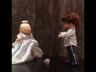 Кукла Золушка и Прекрасный Принц серии Precious Moments