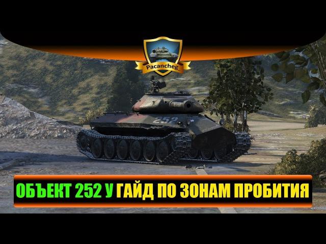 ОБЪЕКТ 252 У ЗАЩИТНИК ГАЙД ПО ЗОНАМ ПРОБИТИЯ World of Tanks