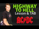 How To Play Highway to Hell Guitar Lesson TAB - AC/DC