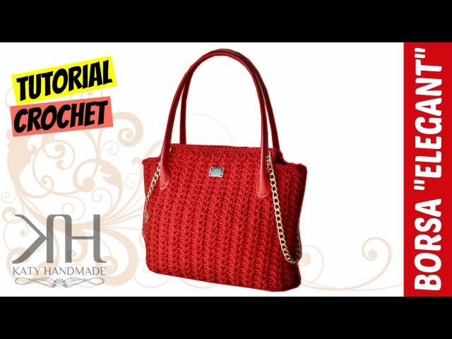 TUTORIAL BORSA Elegant | UncinettoCrochet | PUNTO FANTASIA || Katy Handmade