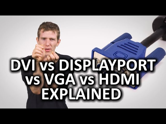 HDMI DisplayPort VGA and DVI as Fast As Possible