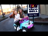 DRIVING THRU TACO BELL IN A TOY CAR w SHANNON! ~episode 2~