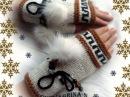 Супер красивые митенки москвички Октябрины! Митенки, которые вам понравятся! Вяжем с Людмилой Тен