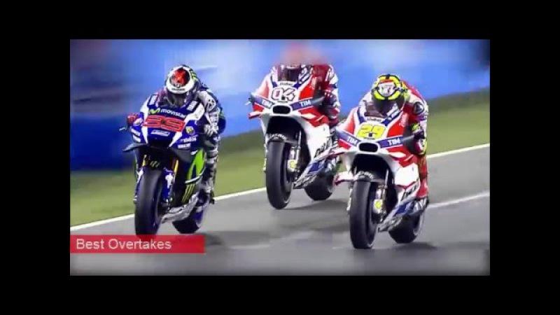 MotoGP Best Overtakes and Crash Compilation