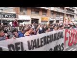 Испания Валенсия ультра продолжают протесты против владельца миллиардер Питер Лим.