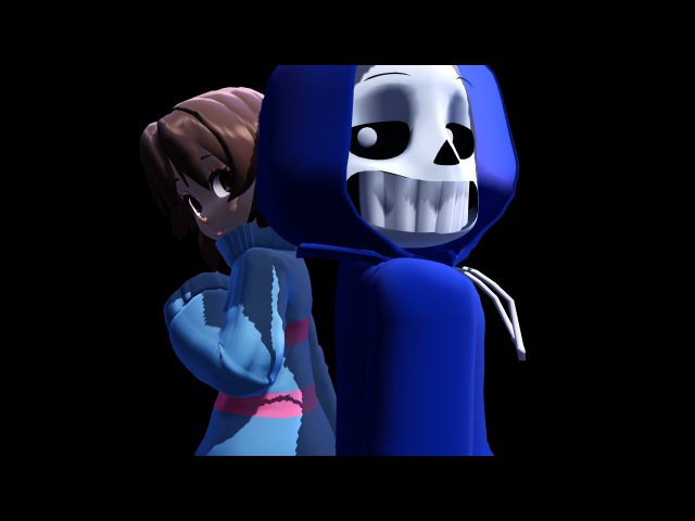 _MMD_ Monster {Dancetale Sans x Frisk} (UNDERTALE)